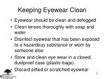 keeping eyewear clean