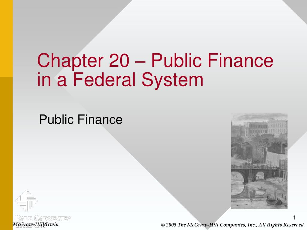 chapter 20 public finance in a federal system l.