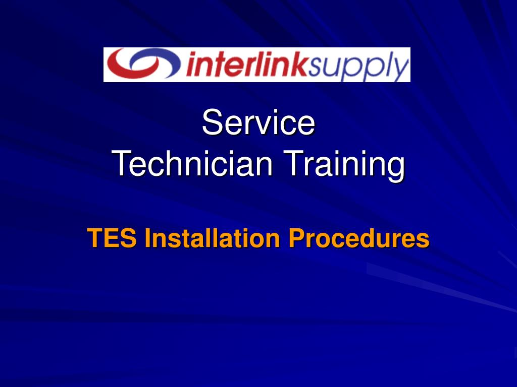service technician training l.