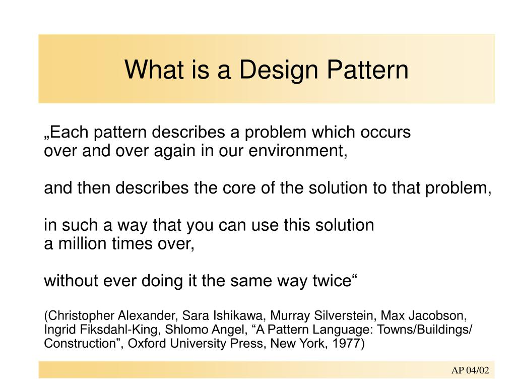 what is a design pattern l.