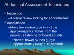 abdominal assessment techniques
