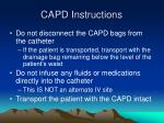 capd instructions