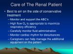 care of the renal patient