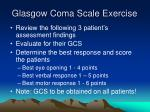 glasgow coma scale exercise