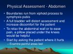 physical assessment abdomen