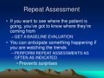 repeat assessment