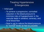 treating hypertensive emergencies
