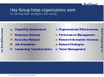 hay group helps organizations work by turning their strategies into reality
