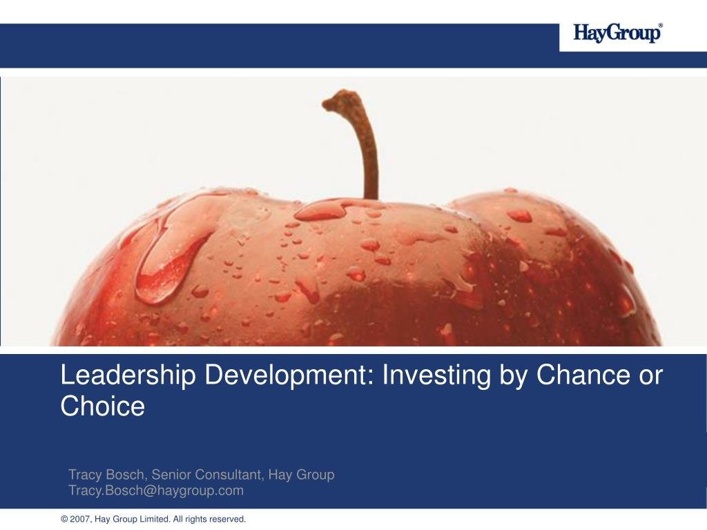 leadership development investing by chance or choice l.