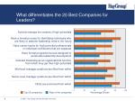 what differentiates the 20 best companies for leaders