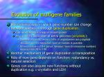 evolution of multigene families