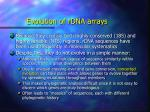 evolution of rdna arrays