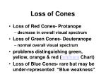 loss of cones