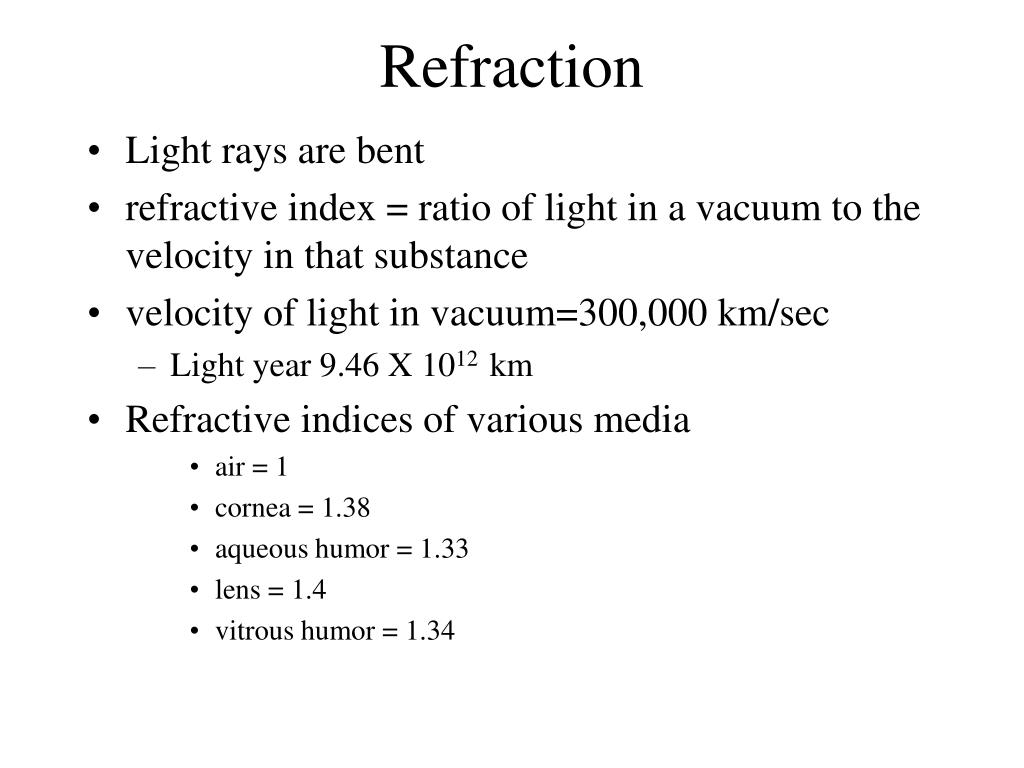 refraction l.