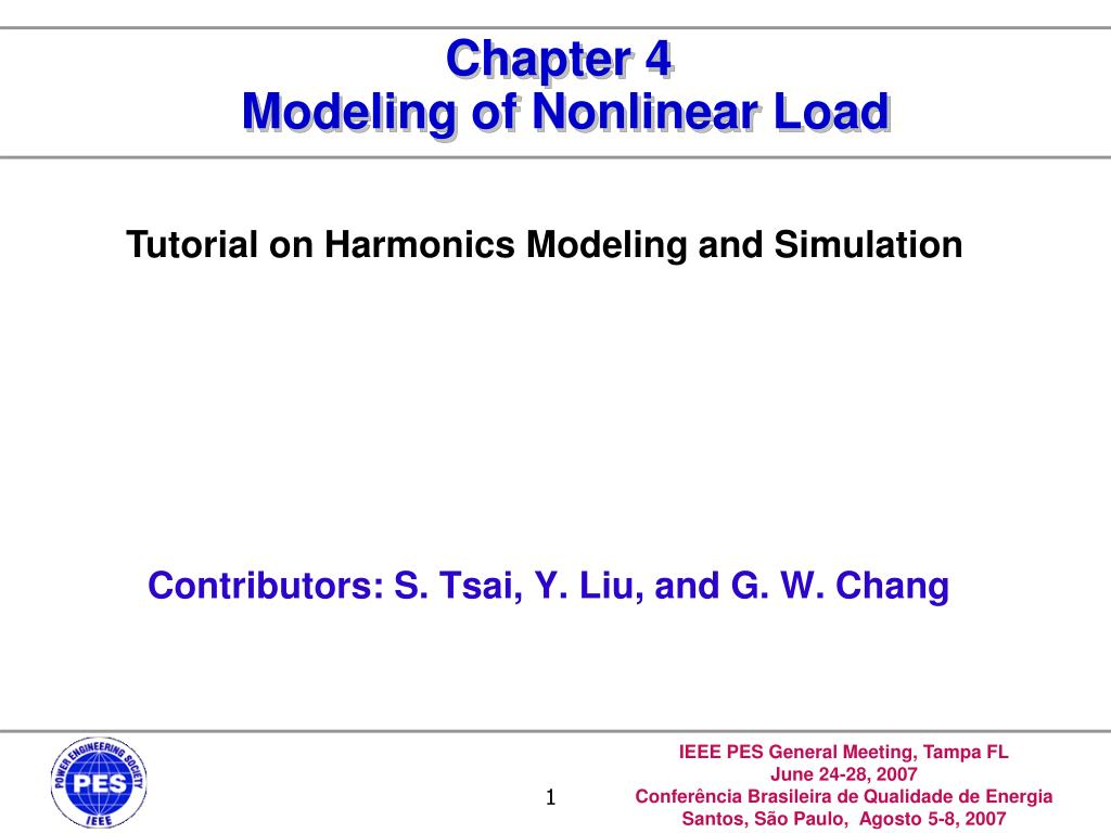 chapter 4 modeling of nonlinear load l.