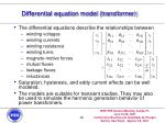 differential equation model transformer