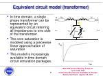 equivalent circuit model transformer
