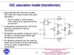 gic saturation model transformer