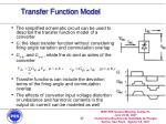 transfer function model