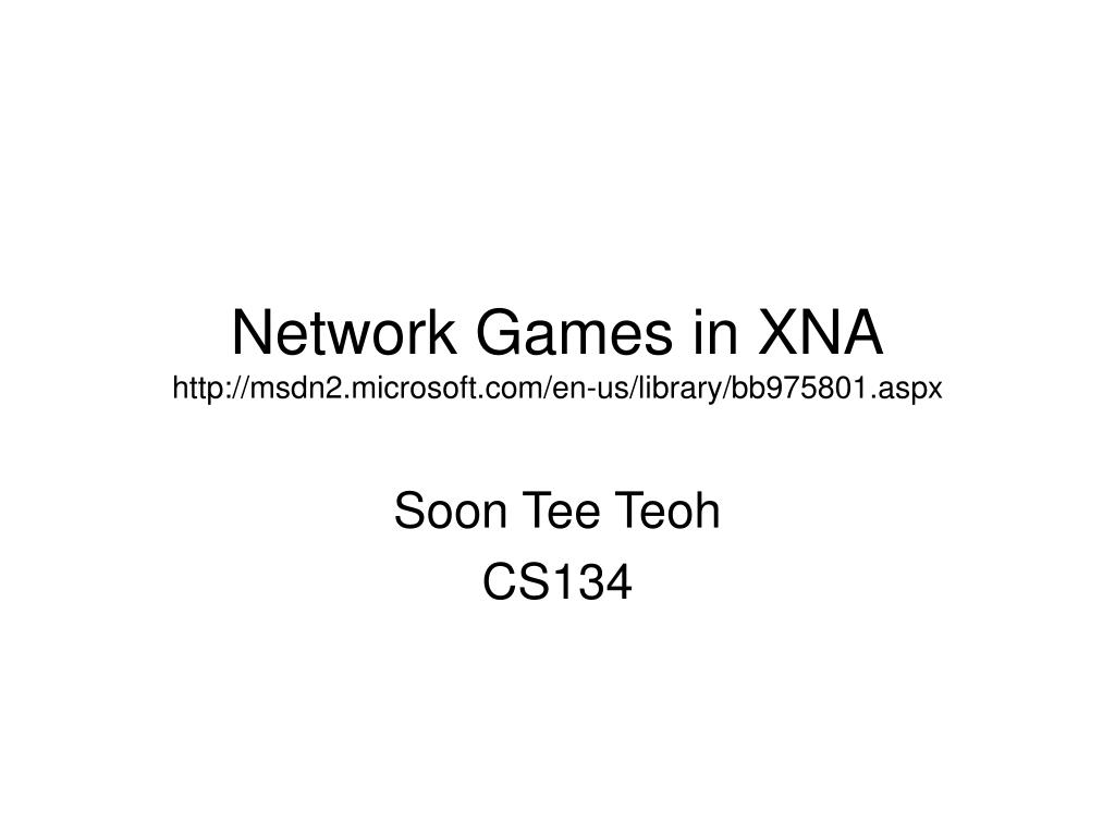 network games in xna http msdn2 microsoft com en us library bb975801 aspx l.