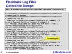 flashback log files controlfile dumps