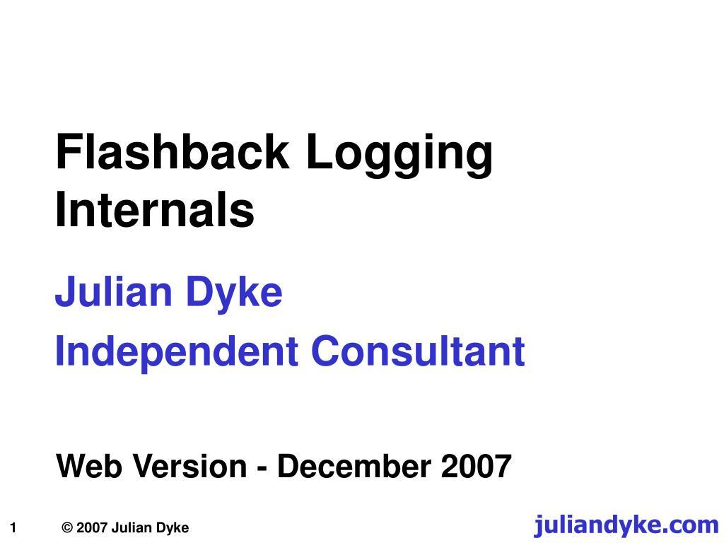 flashback logging internals l.