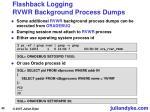 flashback logging rvwr background process dumps