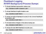 flashback logging rvwr background process dumps43