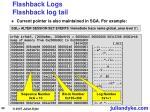 flashback logs flashback log tail50