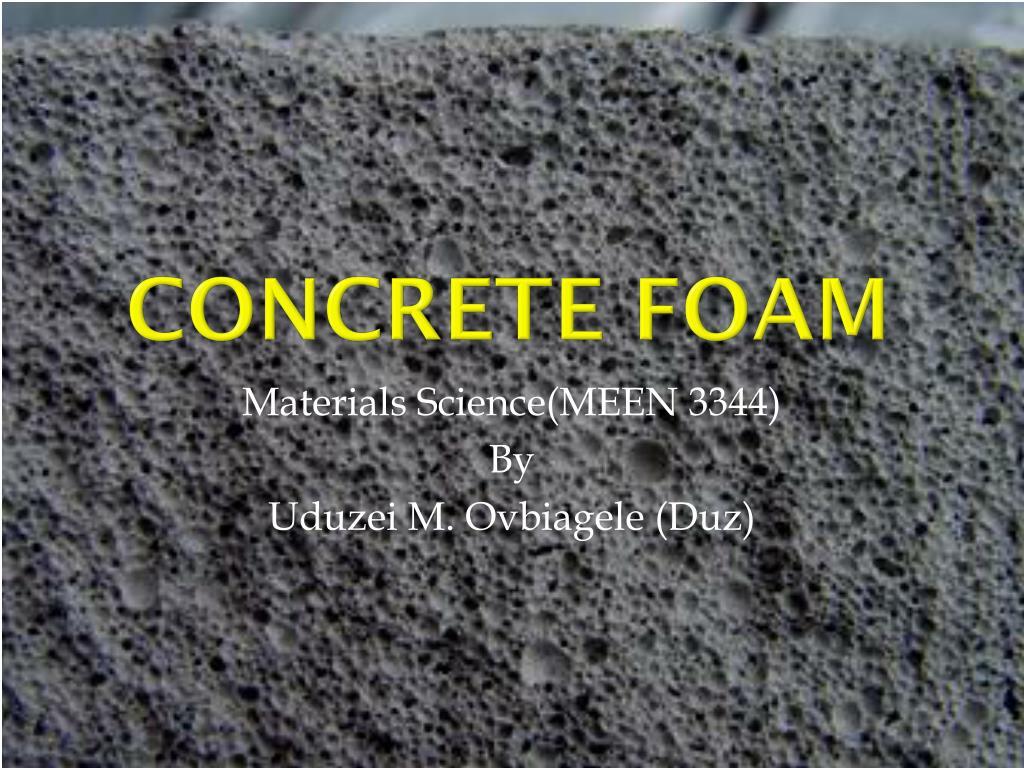 concrete foam l.