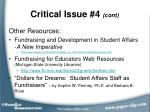 critical issue 4 cont