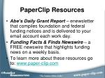 paperclip resources