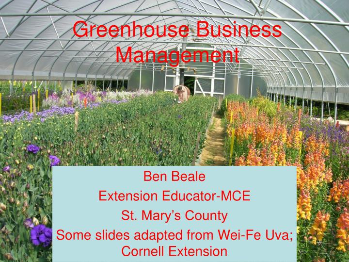 greenhouse business management n.