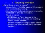1 acquiring inventory