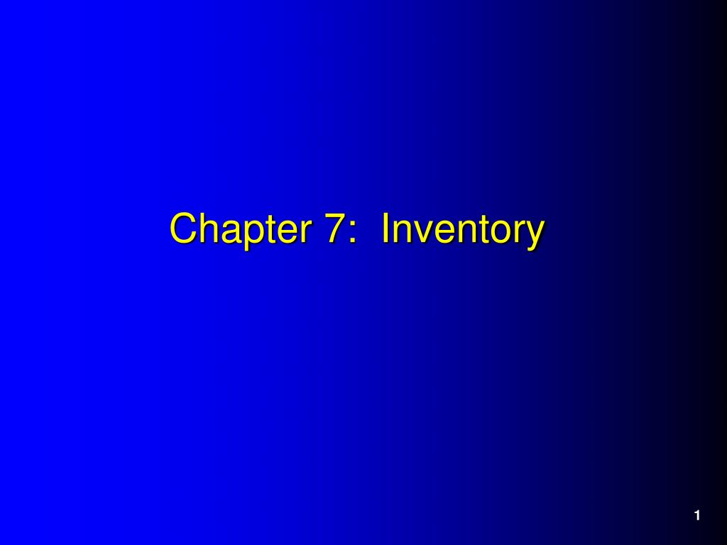 chapter 7 inventory l.