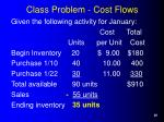 class problem cost flows