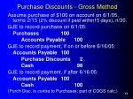purchase discounts gross method