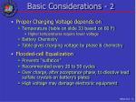 basic considerations 2