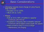 basic considerations