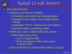 typical 12 volt system
