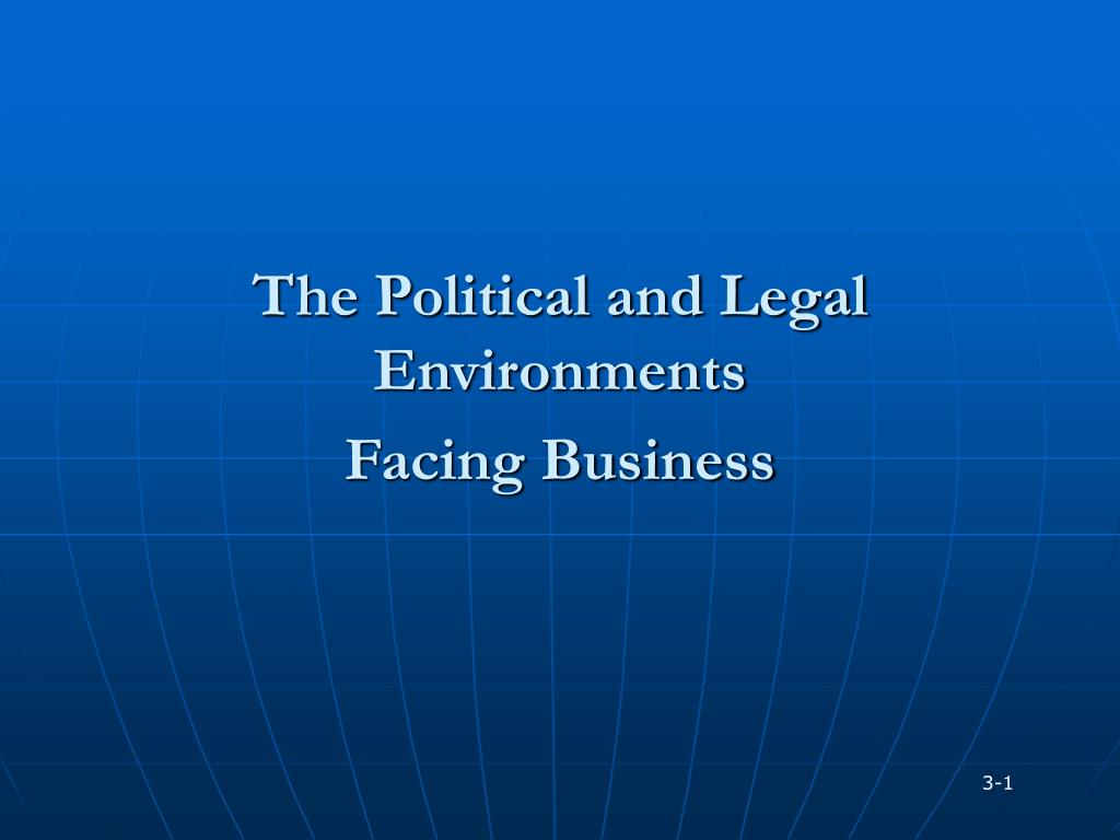 the political and legal environments facing business l.