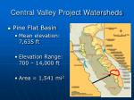 central valley project watersheds