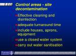 control areas site decontamination