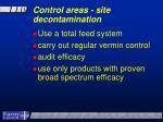 control areas site decontamination22