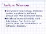 positional tolerances