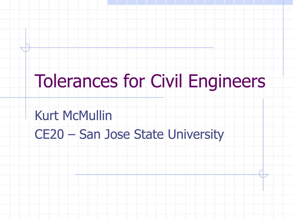 tolerances for civil engineers l.
