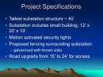 project specifications6