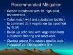 recommended mitigation