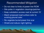 recommended mitigation13