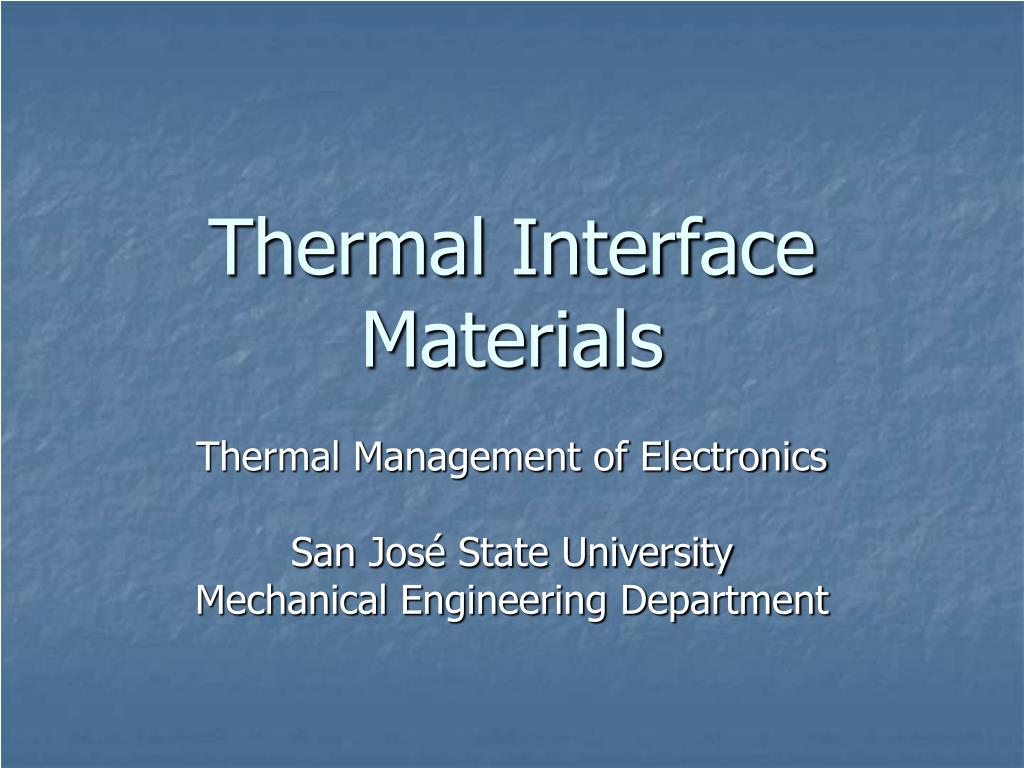 thermal interface materials l.